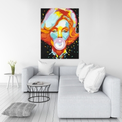 Canvas 36 x 48 - Colorful marilyne monroe bubblegum