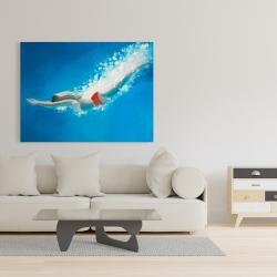 Canvas 36 x 48 - Diving jump