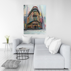 Canvas 36 x 48 - Building architecture in new-york