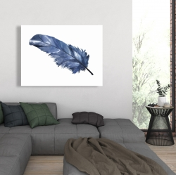 Canvas 36 x 48 - Blue feather