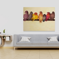 Canvas 36 x 48 - Bird family