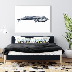 Canvas 36 x 48 - Watercolor whale