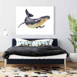 Canvas 36 x 48 - Watercolor blue whale