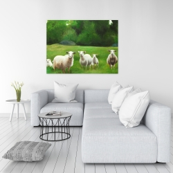 Canvas 36 x 48 - Fields of sheep