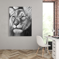 Canvas 36 x 48 - Lion and lioness