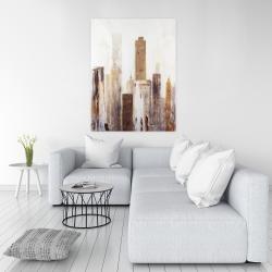 Canvas 36 x 48 - Abstract earthy tones city