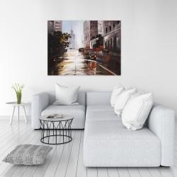 Canvas 36 x 48 - Morning street scene