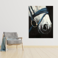 Canvas 36 x 48 - Horse with harness