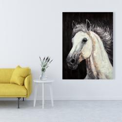 Canvas 36 x 48 - White star horse