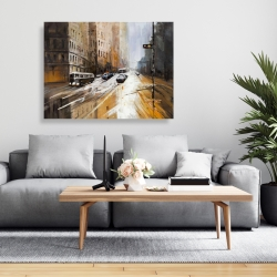 Canvas 36 x 48 - Abstract city street