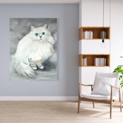 Canvas 36 x 48 - Chinchilla persian cat