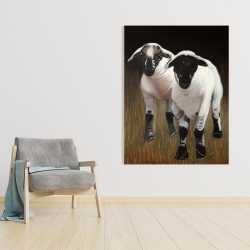 Canvas 36 x 48 - Two lambs