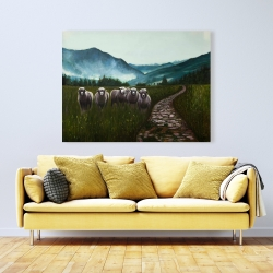 Canvas 36 x 48 - Sheep in the countryside