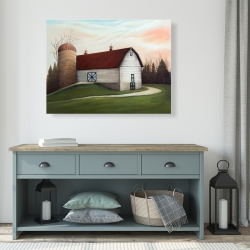 Canvas 36 x 48 - White barn view