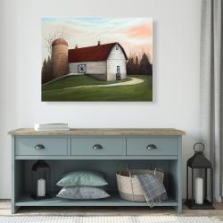 Canvas 36 x 48 - White barn