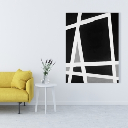 Canvas 36 x 48 - Black and white abstract shapes