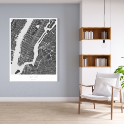 Canvas 36 x 48 - New york graphic map