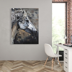 Canvas 36 x 48 - Side of a wild horse