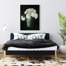 Canvas 36 x 48 - White hydrangea flowers
