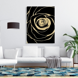 Canvas 36 x 48 - Black rose