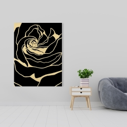 Canvas 36 x 48 - Cutout black rose