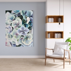 Canvas 36 x 48 - Colorful hydrangea flowers