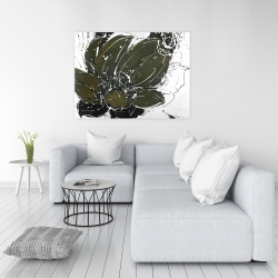 Canvas 36 x 48 - Abstract flower with paint splash