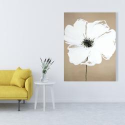 Canvas 36 x 48 - Abstract color splash petals flower
