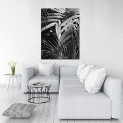 Canvas 36 x 48 - Monochrome tropicals leaves