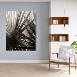 Canvas 36 x 48 - Grayscale tropical plants