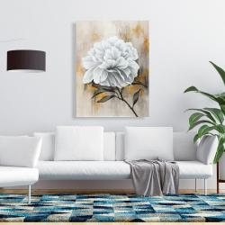 Canvas 36 x 48 - White peony