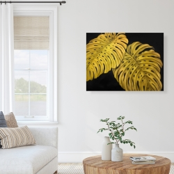 Canvas 36 x 48 - Gold monstera
