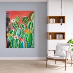 Canvas 36 x 48 - Rainbow cactus