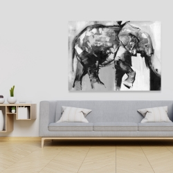 Canvas 36 x 48 - Beautiful monochrome elephant