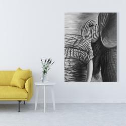 Canvas 36 x 48 - Elephant
