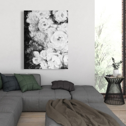 Canvas 36 x 48 - Monochrome rose garden