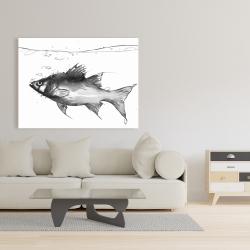 Canvas 36 x 48 - Swimming fish