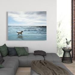 Canvas 36 x 48 - Dog on the beach