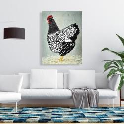 Canvas 36 x 48 - Wyandotte  hen