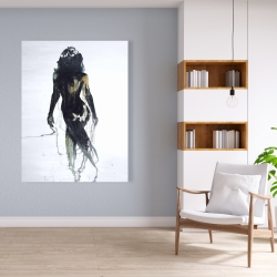 Canvas 36 x 48 - Abstract back view of a woman silhouette