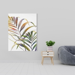 Canvas 36 x 48 - Watercolor tropical palm leaves