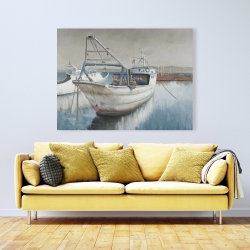 Canvas 36 x 48 - Fishing boat desatured
