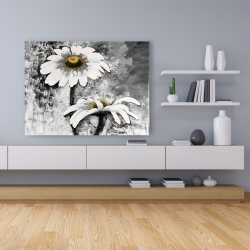 Canvas 36 x 48 - Abstract daisies flowers