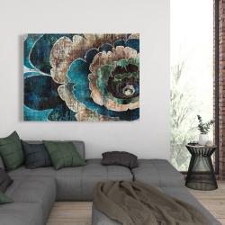 Canvas 36 x 48 - Blue flower montage