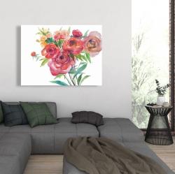 Canvas 36 x 48 - Watercolor bouquet of flowers