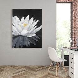 Canvas 36 x 48 - Lotus flower with reflection