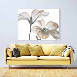 Canvas 36 x 48 - Beautiful desaturated flowers