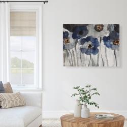 Canvas 36 x 48 - Blue blurry flowers