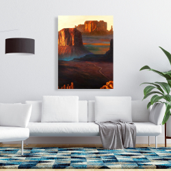 Canvas 36 x 48 - Monument valley tribal park in arizona