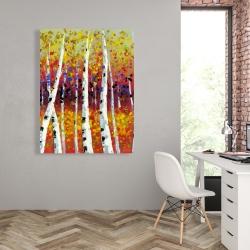 Canvas 36 x 48 - Colored birches
